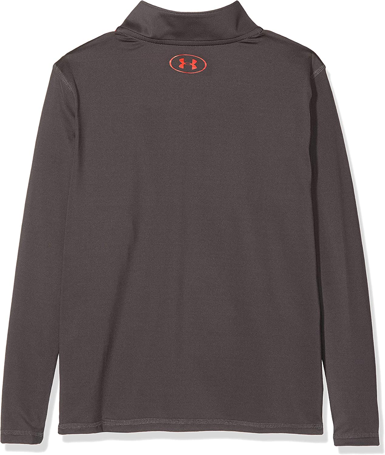 Charcoal//Radio Red Under Armour Raid 1//4 Zip Long-Sleeve Shirt Youth Large