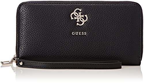 Guess - Slg Wallet, Carteras Mujer, Negro (Black), 2x10x21 cm (