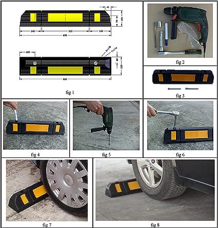 Tope para rueda, de goma, para parking: Amazon.es: Industria, empresas y ciencia