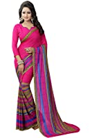Sarees For woman(Clothsfab Women's Clothing Saree For Women Latest Design Wear New Collection in Latest With Blouse Free Size Saree For Women Party Wear Offer Sarees With Blouse Piece) (dark pink)