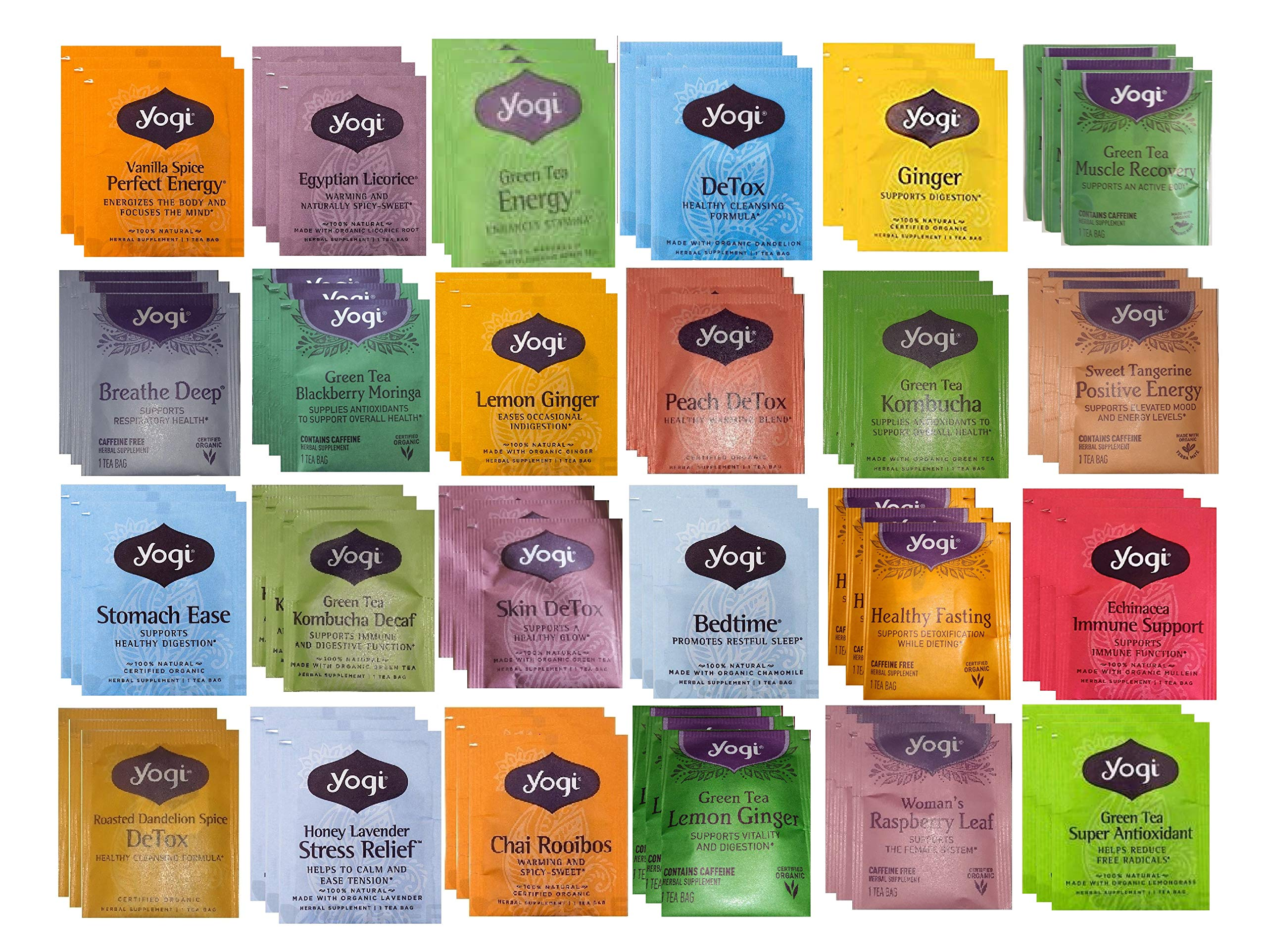 YOGI TEA SAMPLER 24 FLAVORS (72 TEA BAGS)