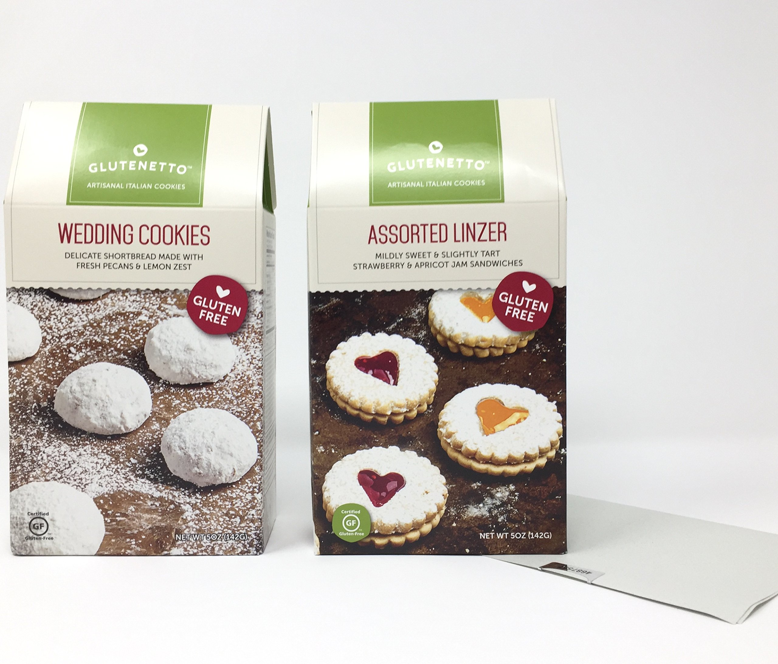 Gluten Free Gourmet Cookies: Assorted Strawberry and Apricot Linzer And Shortbread Wedding Plus a Bonus Free Gluten-Free Nut-Free No-Bake Candy Recipe from Z-Organics. Great Healthy Bundle (3 Items)
