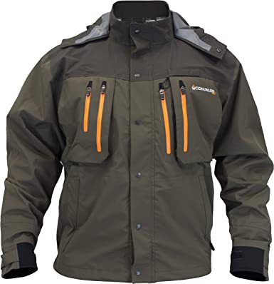 SG23185-8485-SM Pt. Guide Wading Jacket, Stone & Taupe, SM