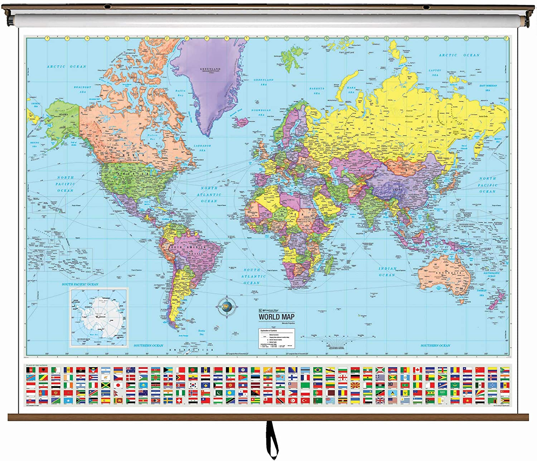 Amazon.com : Advanced Political Map - World : Geographic Globes ...