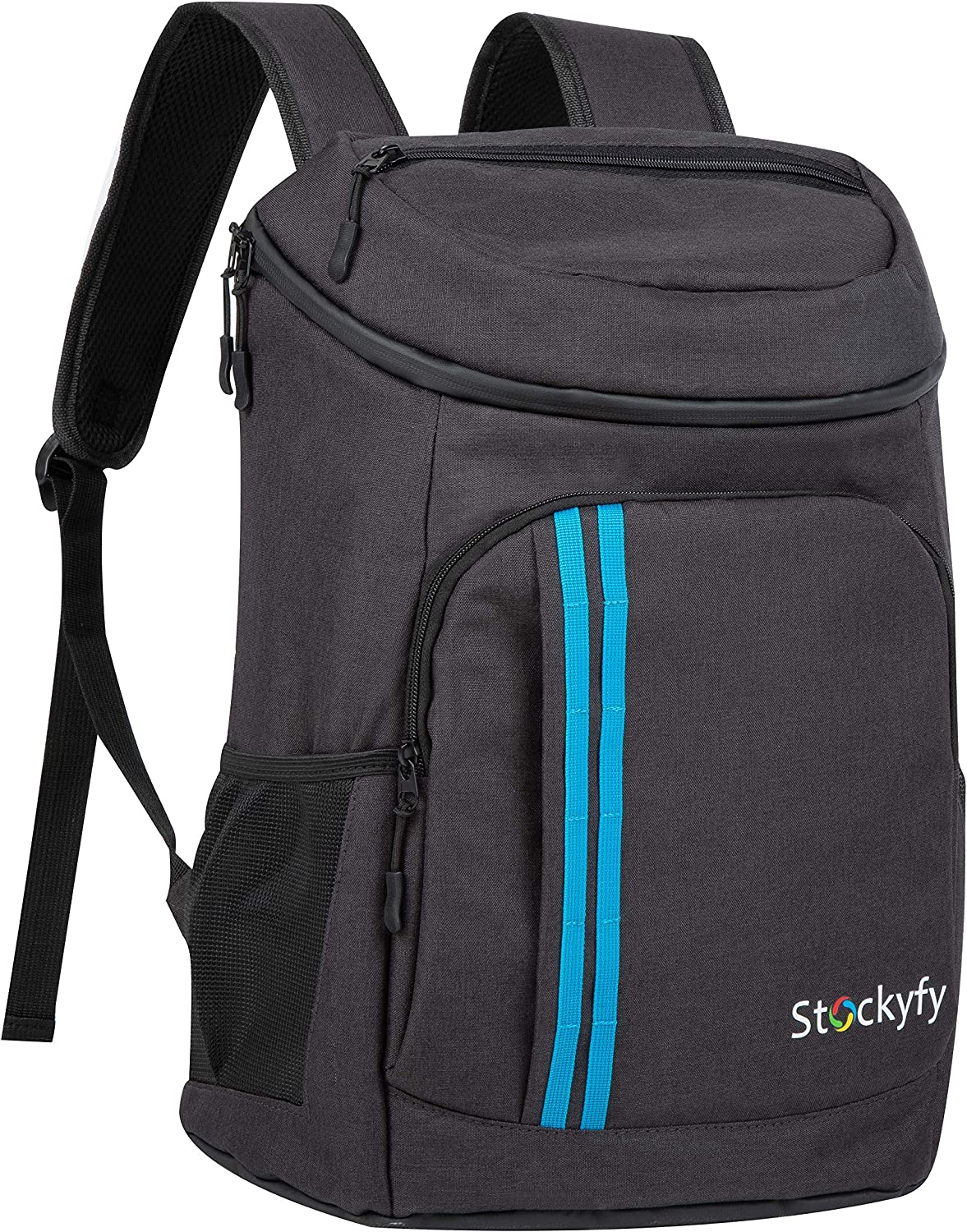 STOCKYFY Backpack Cooler Backpack 30 Cans Lightweight Insulated Backpack Cooler Leak-Proof Soft Cooler Bag Large Capacity for Men Women to Picnics, Camping, Hiking, Beach, Park or Day Trips