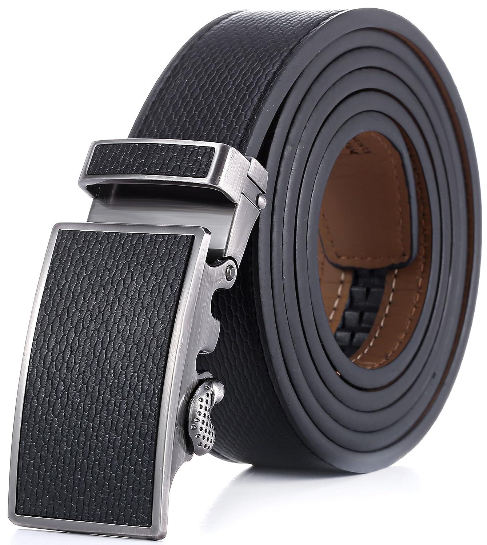 Lovely Marino Ratchet Leather Dress Belt For Men   Adjustable Click Belt With  Automatic Sliding Buckle,