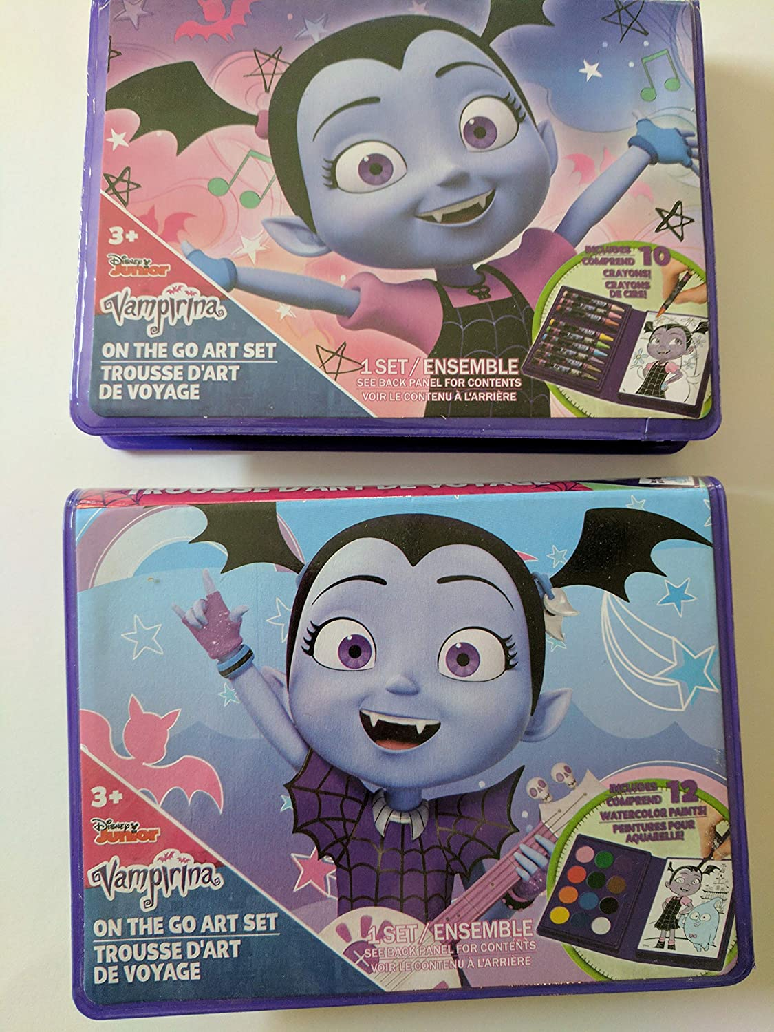 Crayons and Water Color Paints DTSC Imports Vampirina On The GO Art Sets AUX E.-U