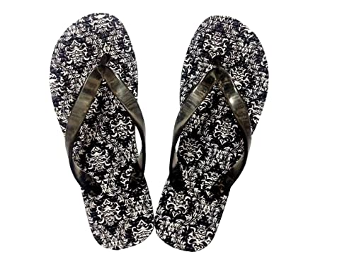1ce338a072e06b 3C Non-Skid Poly-Urethane flip Flops and Bathroom Slippers Abstract in  Black Design Series  Buy Online at Low Prices in India - Amazon.in
