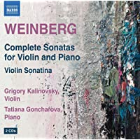 Weinberg: Complete Sonatas For Violin And Piano [Grigory Kalinovsky, Tatiana Goncharova] [Naxos: 8572320-21]