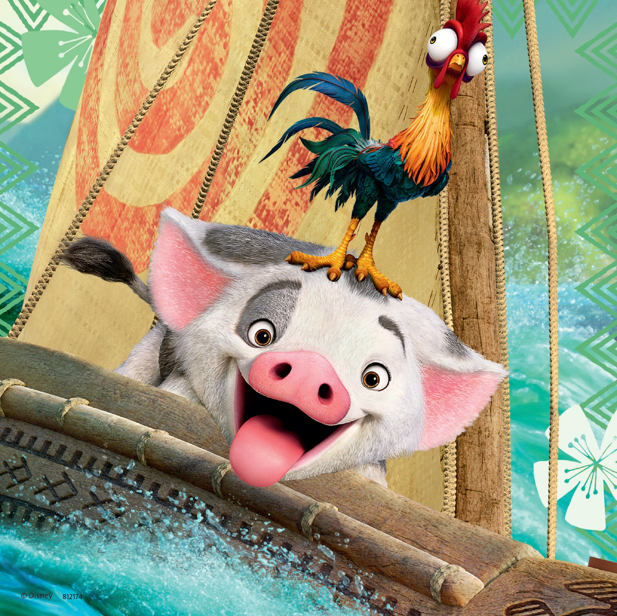 Ravensburger Disney Moana Born To Voyage 49 Piece Jigsaw Puzzle for Kids – Every Piece is Unique, Pieces Fit Together Perfectly by Ravensburger (Image #4)