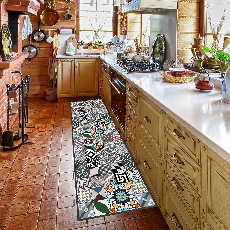Tappeto cucina lavabile in lavatrice, passatoia cucina, 52cm x ...