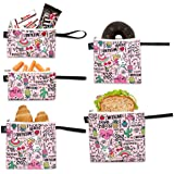 Nordic By Nature Reusable Sandwich Bag Snack Bags - Value Pack of 5 Dual Layer Lunch Baggies - Dishwasher Safe - Eco…