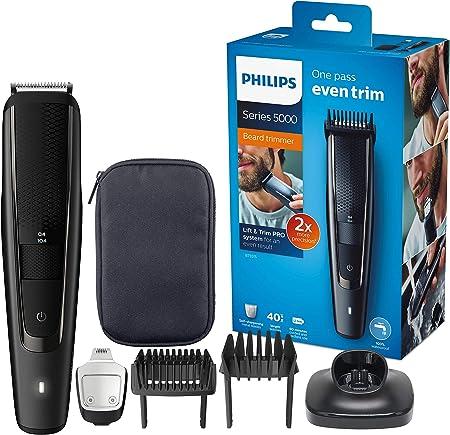 Philips BEARDTRIMMER Series 5000 Barbero BT5515/15 - Afeitadora (Negro, 0,4 mm, 2 cm, 90 min, AC/Batería, 1 h)