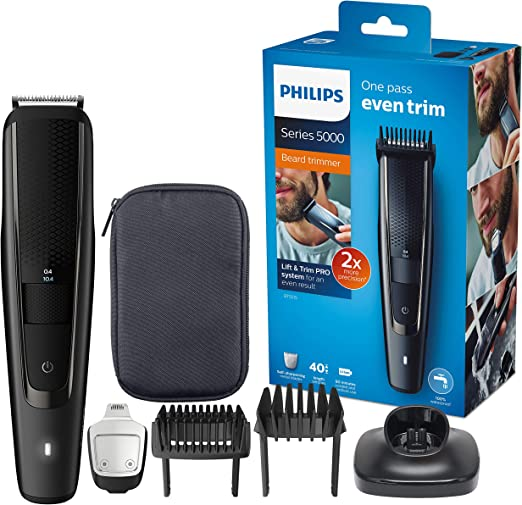 Philips BEARDTRIMMER Series 5000 Barbero BT5515/15 - Afeitadora (Negro, 0,4 mm, 2 cm, 90 min, AC/Batería, 1 h): Amazon.es: Salud y cuidado personal