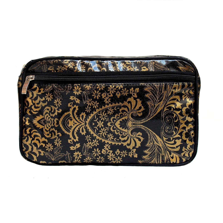 Bolsa de Aseo Organizador Accesorios de Bañ o de Cosmé ticos Neceser de viaje impermeable multifuncional, motif floral Eden gold