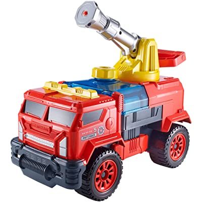 Matchbox Aqua Cannon Fire Truck Rig: Toys & Games