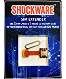 Shockware Hybrid SIM Slot Adapter to Run 2 SIM And Micro SD Card (Includes Sim Ejector Pin)