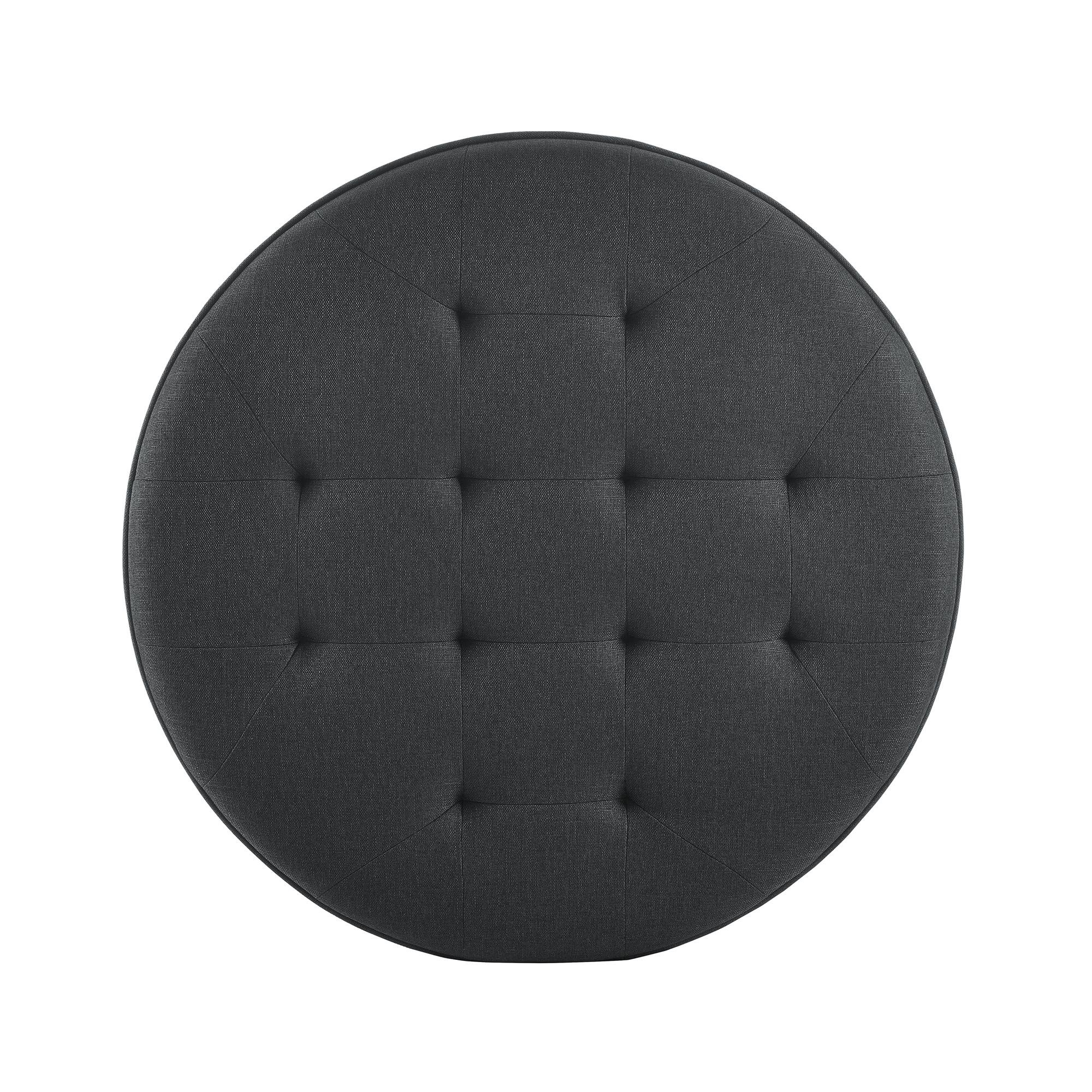 Dorel Living DL6993-CH Patty Round Ottoman, Charcoal by Dorel Living (Image #3)
