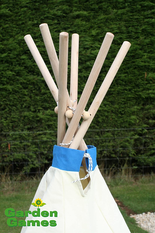 amazon com children u0027s cotton canvas wooden frame teepee play tent