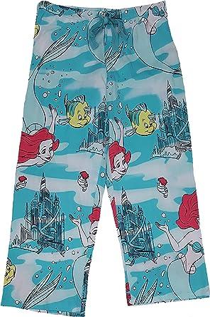 Ariel Disney The Little Mermaid All Over Capri Knit Sleep Pants