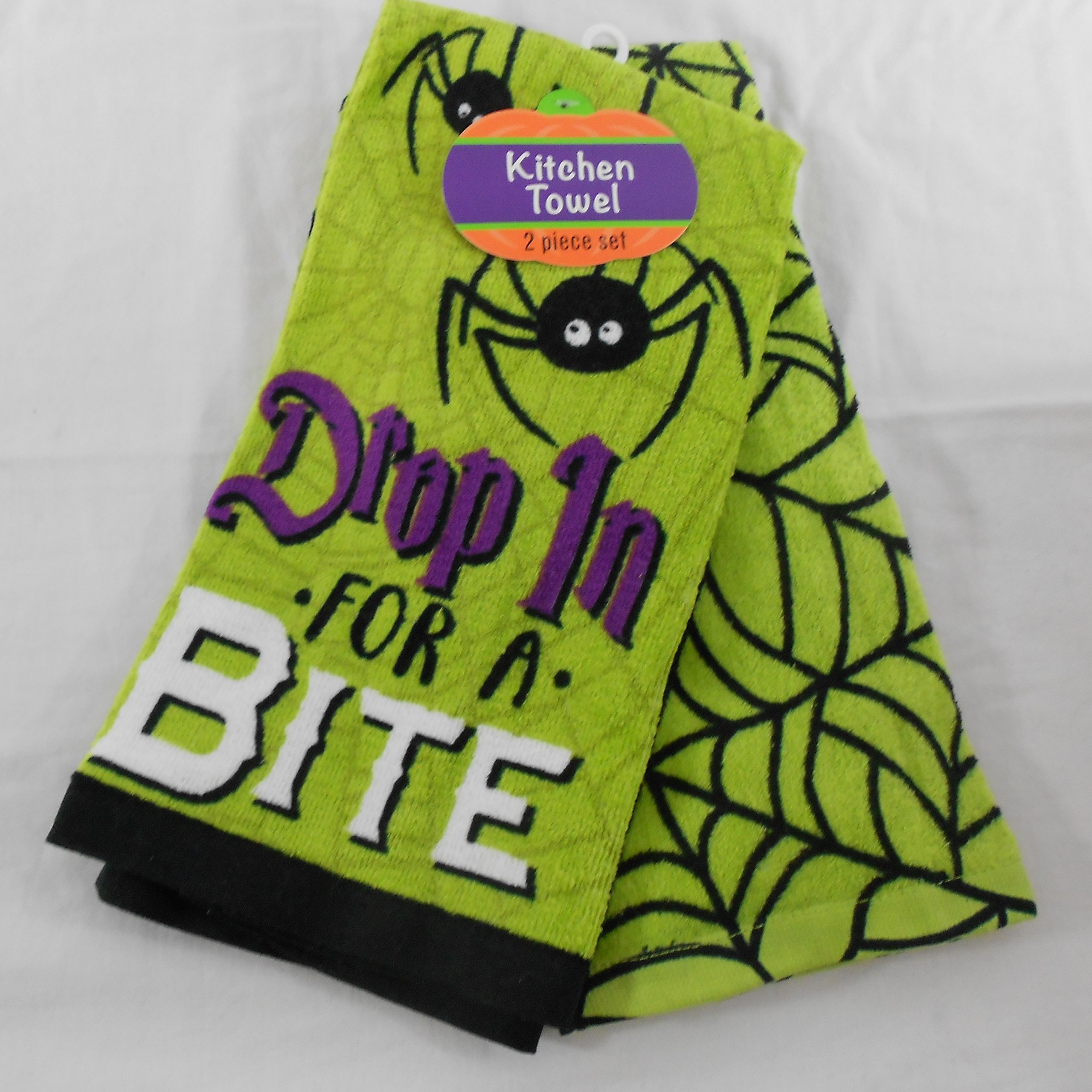 Halloween Drop in for A Bite Kitchen Towel Set of 2 by Halloween