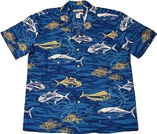 product image for Paradise Found Waimea Casuals Mens Deep Sea Shirt Blue 2X