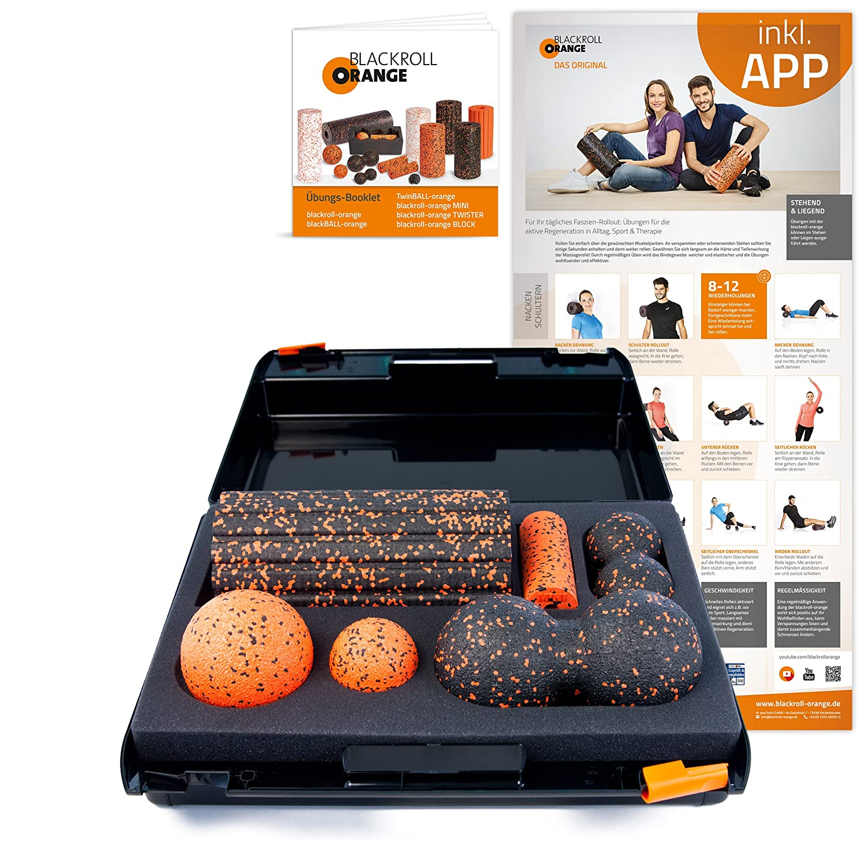 Schwarzroll Orange Die Faszienrolle - SMR-Set, Groove Standard, inkl. Koffer, Übungs-Poster und -Booklet
