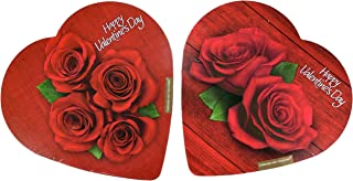 product image for Pack of 2 Assorted Elmer Chocolates (Made in USA) in Heart-Shaped Boxes, 2 oz. Perfect for Valentine's Day Gifts! (4 Roses & 2 Roses)
