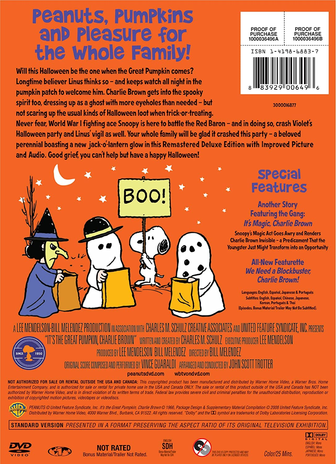 amazon com it u0027s the great pumpkin charlie brown remastered