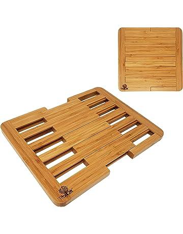 Dexam Compact Foldaway Bamboo Saucepan Serving Dish Heat Protecting Trivet Stand
