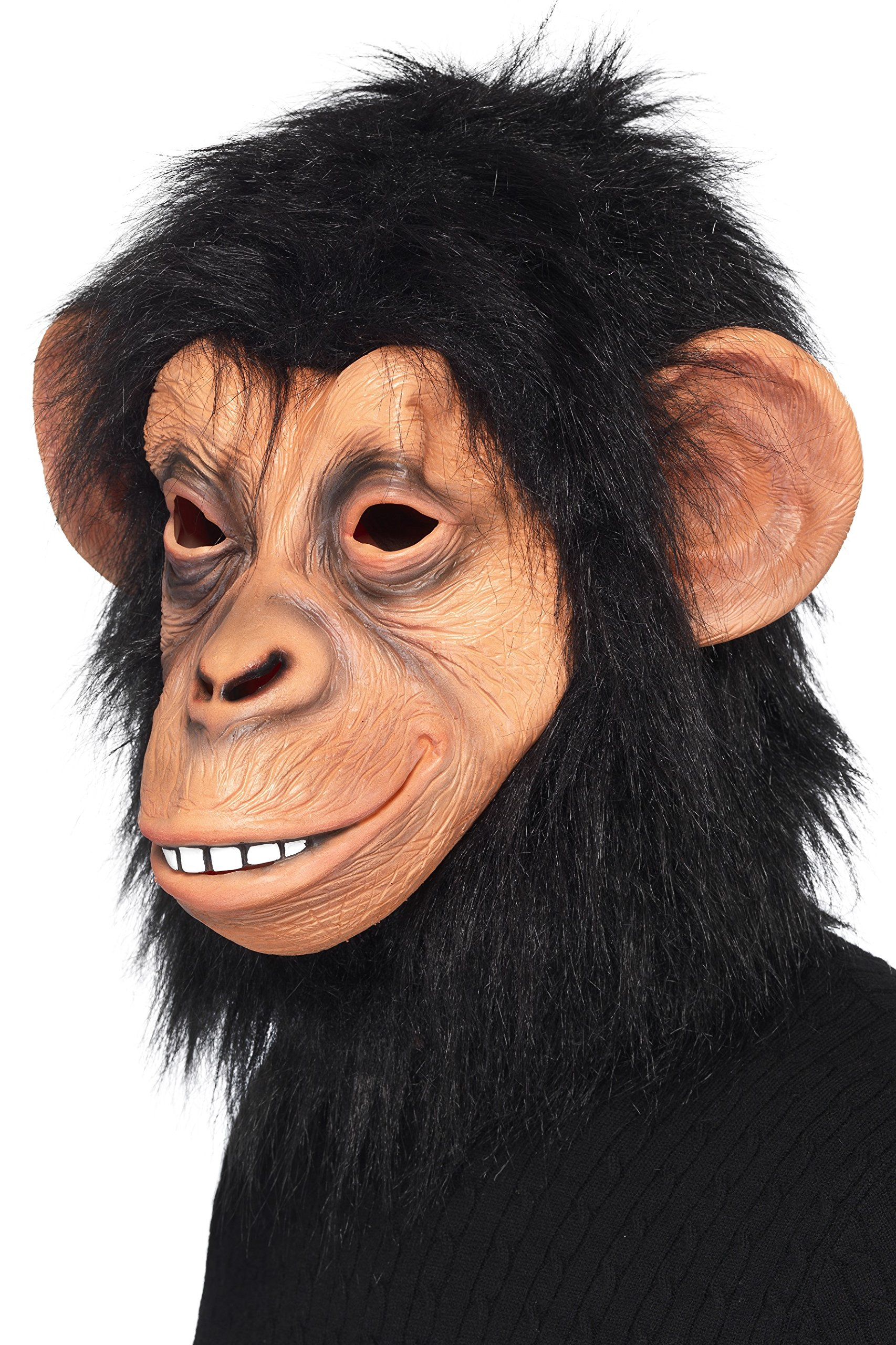 Smiffys 39507 Déguisement Adulte Masque de Chimpanzé, Noir, Taille Unique product image