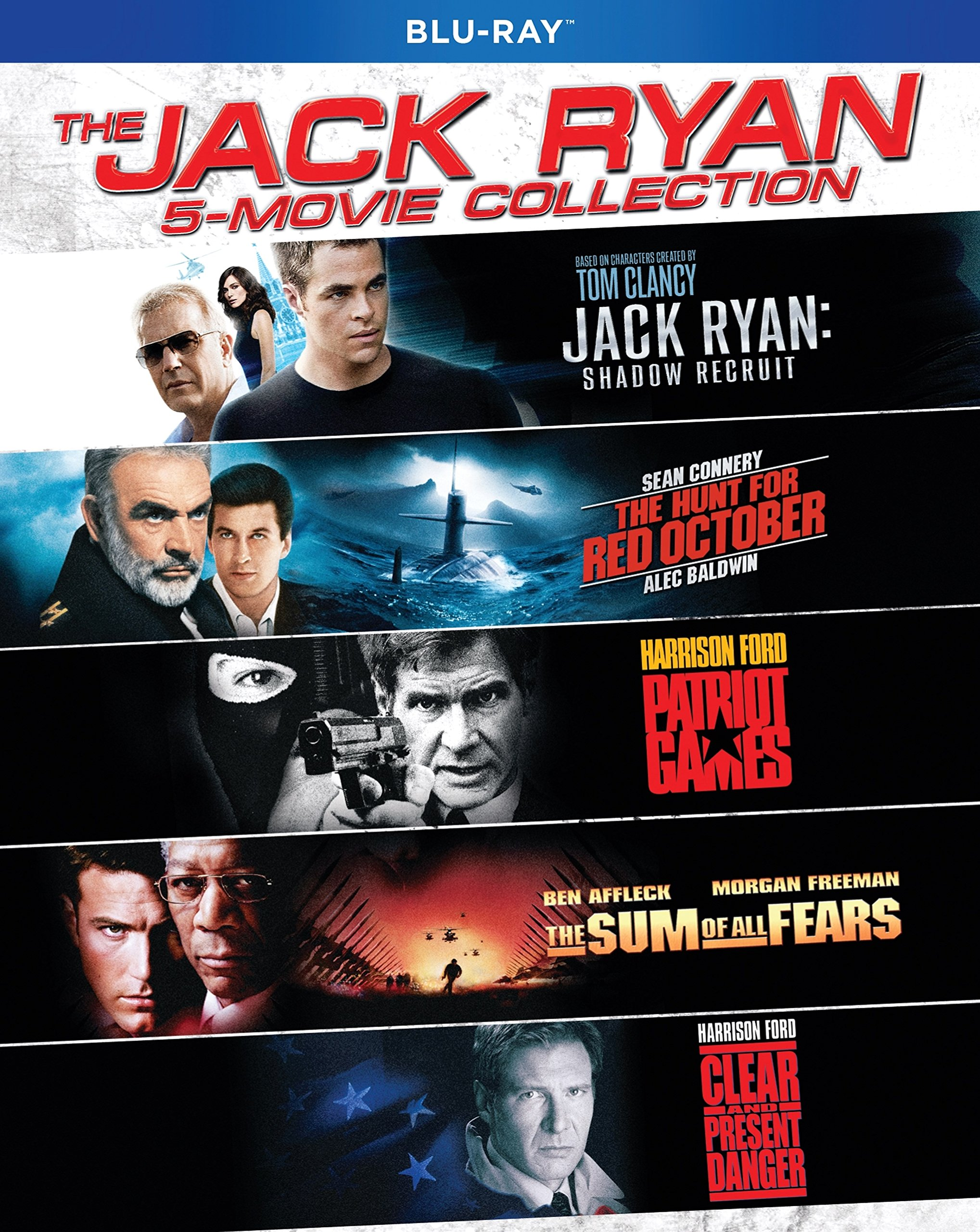 Blu-ray : The Jack Ryan 5-movie Collection (Boxed Set, Widescreen, O-Card Packaging, Dolby, AC-3)