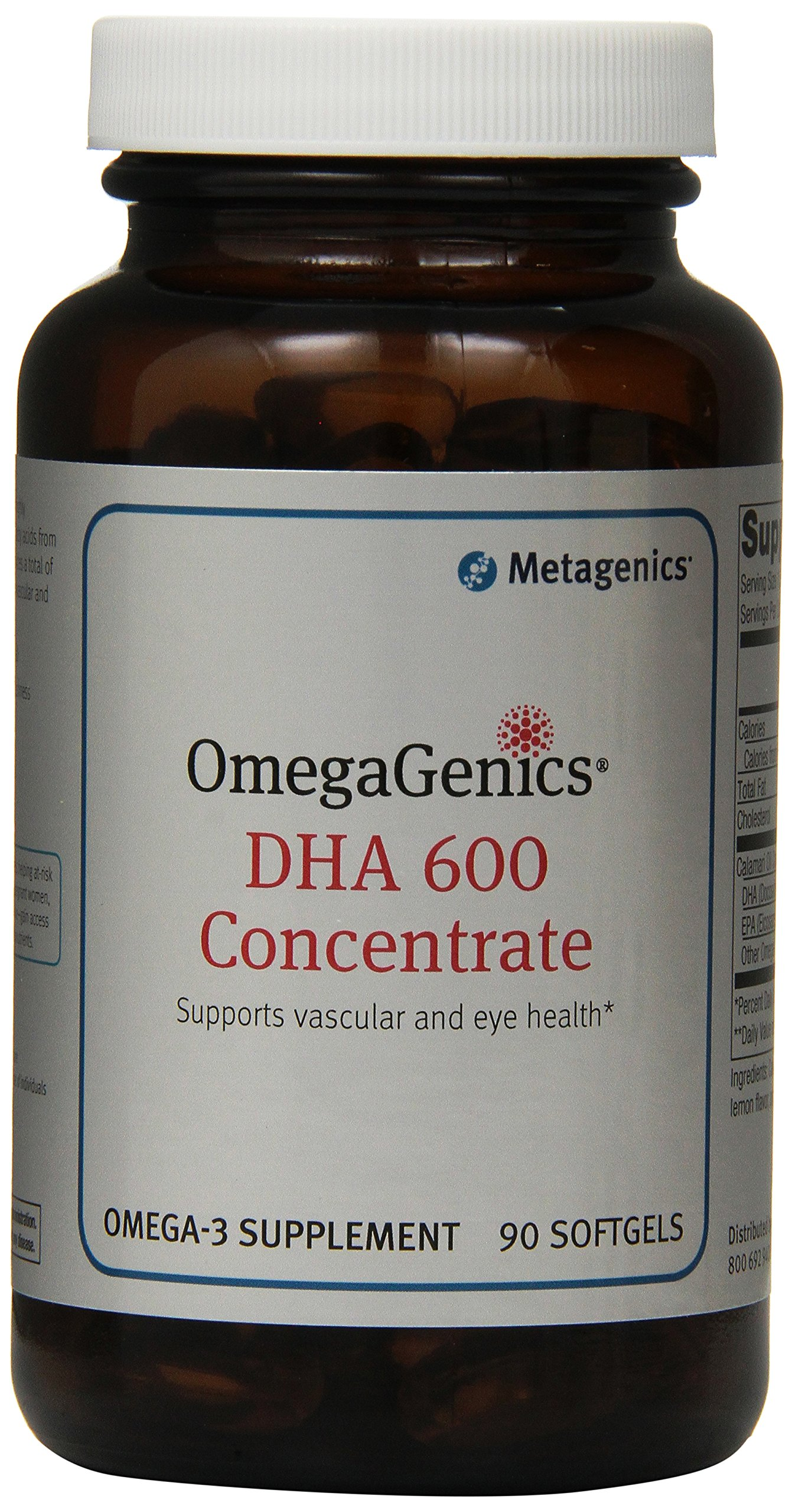 Metagenics Omegagenics DHA Concentrate Soft Gels, 90 Count
