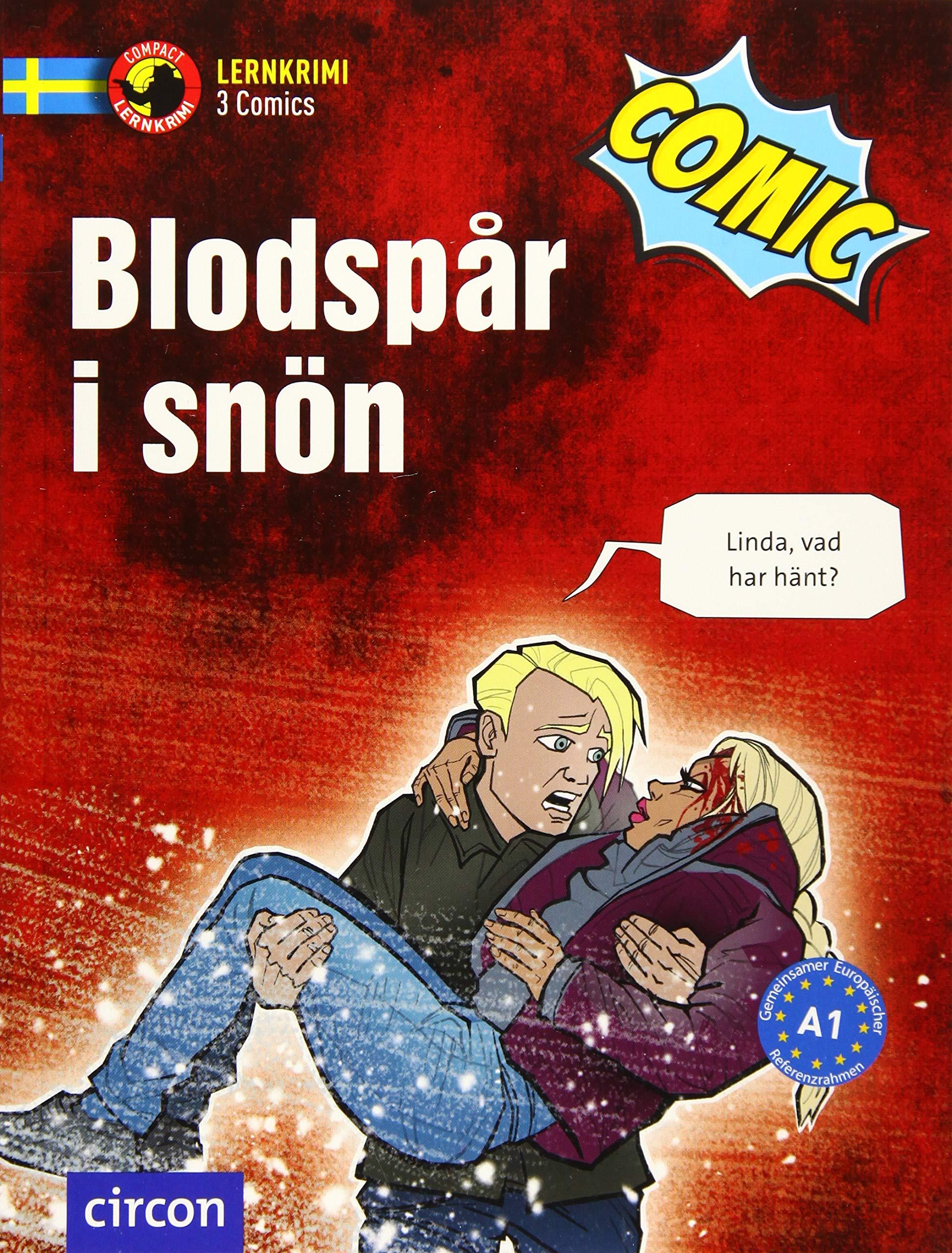 Blodspår I Snön  Schwedisch A1  Compact Lernkrimi Comics