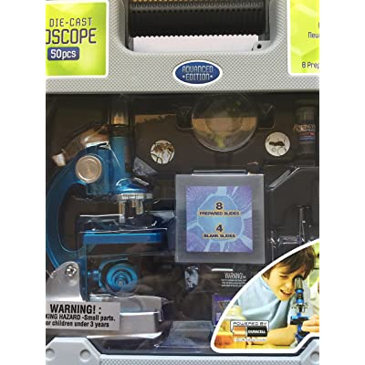 Roll over image to zoom in Deluxe Die-Cast 50 Pcs HD Microscope Set: Toys & Games