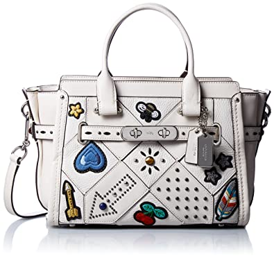 COACH Women s Embellished Canyon Quilt Coach Swagger 27 Sv Chalk One Size   Handbags  Amazon.com 77d0881b49