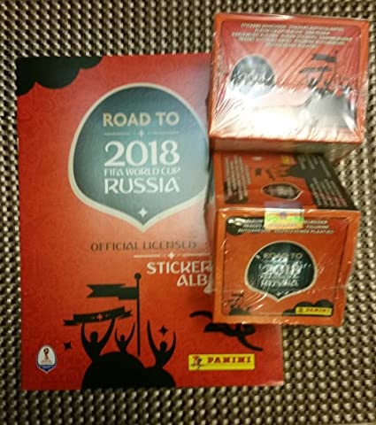 2017 Panini Road to Russia 2018 Stickers Album + 100 packs (total of 500 stickers