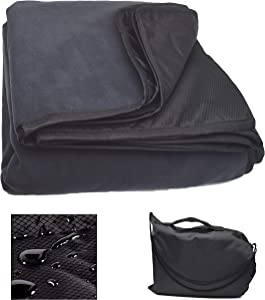 """Redi Soccer Stadium Blanket, Windproof, Waterproof, for Outdoor, Camping, Sports, Park, Picnic (58"""" x 84""""), We Donate One Soccer Ball for Every Blanket Sold"""
