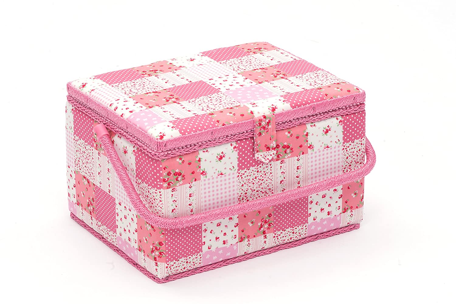 Hobby Gift MRL/24 | Pink Patchwork Large Sewing Basket Groves Asia