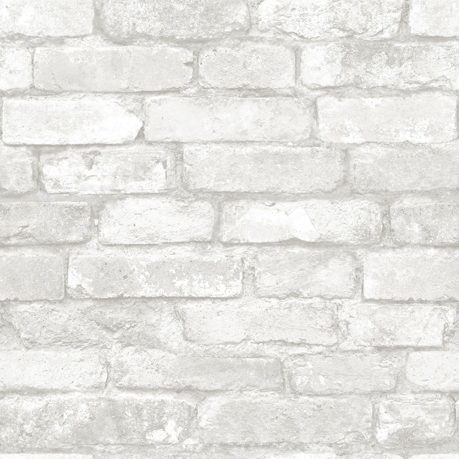NuWallpaper NU3010 Grey and White Brick Peel & Stick Wallpaper by NuWallpaper