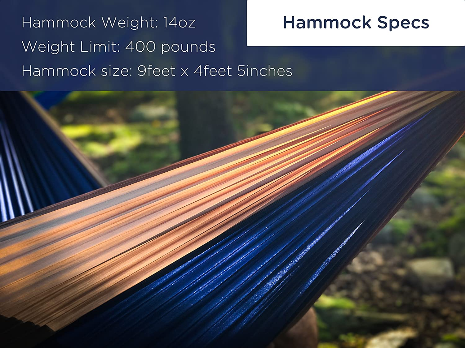 Serac Durable Hammock /& Strap Bundle Classic Portable Single Camping Hammock with Suspension System - Perfect for The Backpack, Travel and Camping