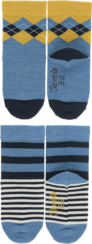 Taille fabricant: 27//30 Sterntaler S/öckchen 2er-pack Karo 27//30 Bleu Chaussettes Chaussettes Gar/çon