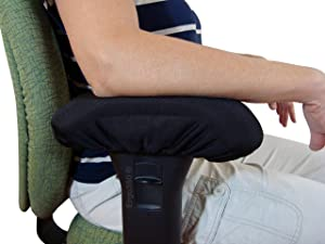 Ergo360 Chair Armrest Arm Pad Covers - Genuine High Density Memory Foam for Ultimate Elbow Comfort (2 Piece Set)