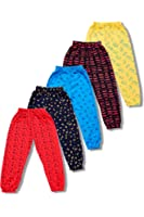T2F kids Boys' Printed Track Pant (Pack of 5)