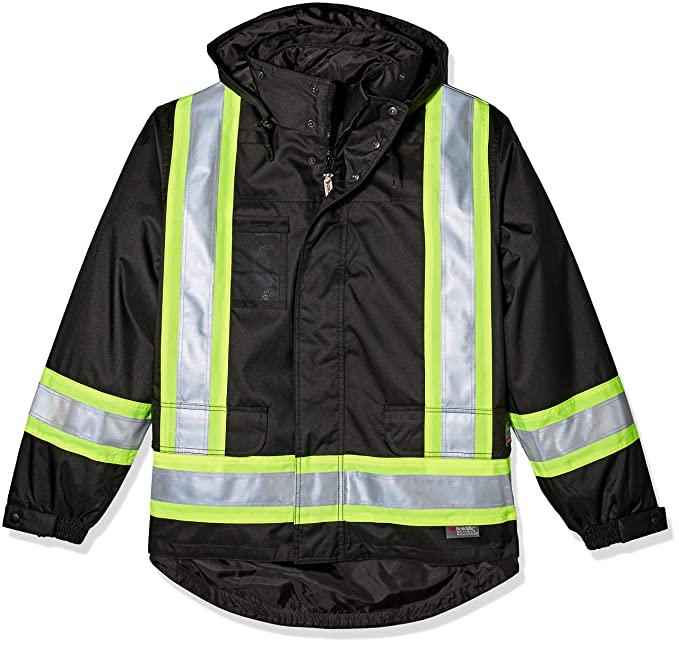 6ca12a904 Work King Safety Mens Hi Vis 5-in01 Safety Jacket: Amazon.ca ...
