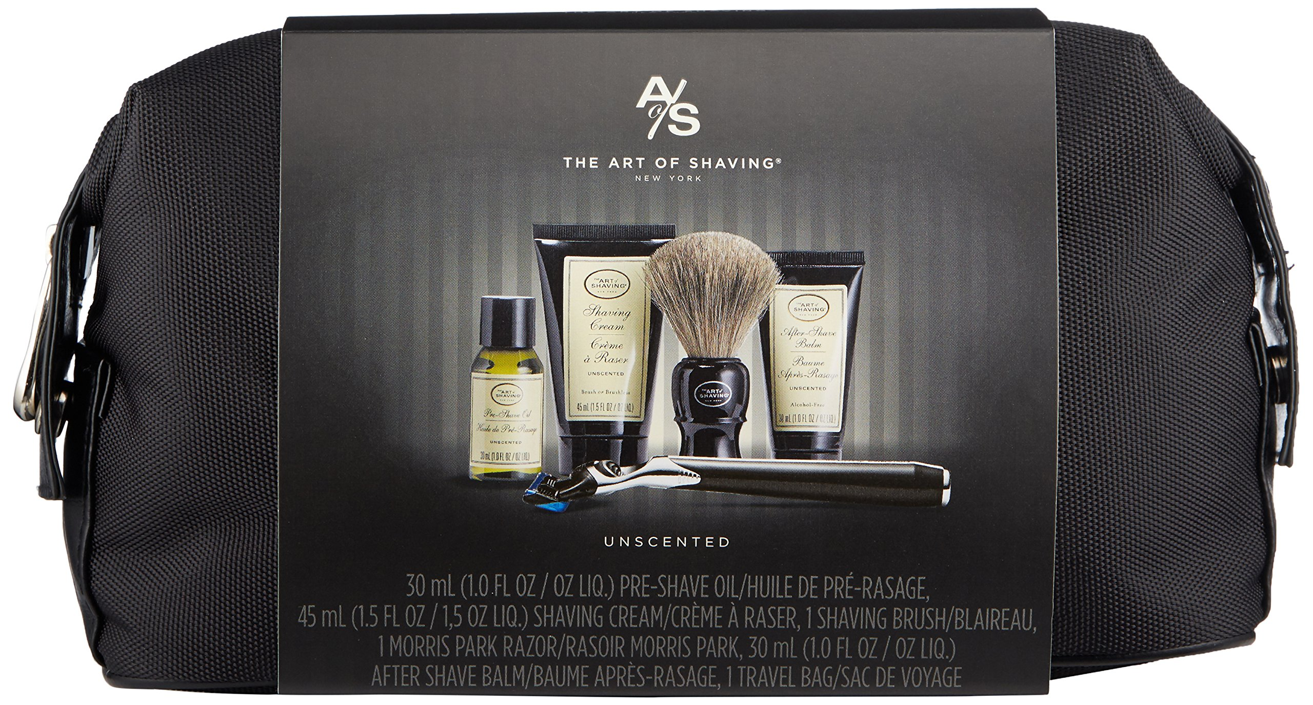 The Art of Shaving 5 Piece Travel Kit with Morris Park Razor, Unscented by The Art of Shaving (Image #2)