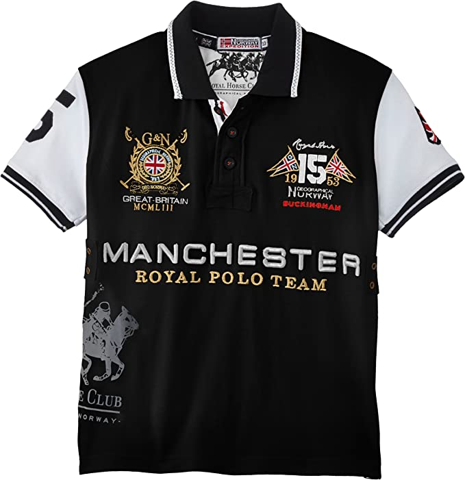 Geographical Norway - Polo Polo para niño, Color Negro, Talla 10 ...
