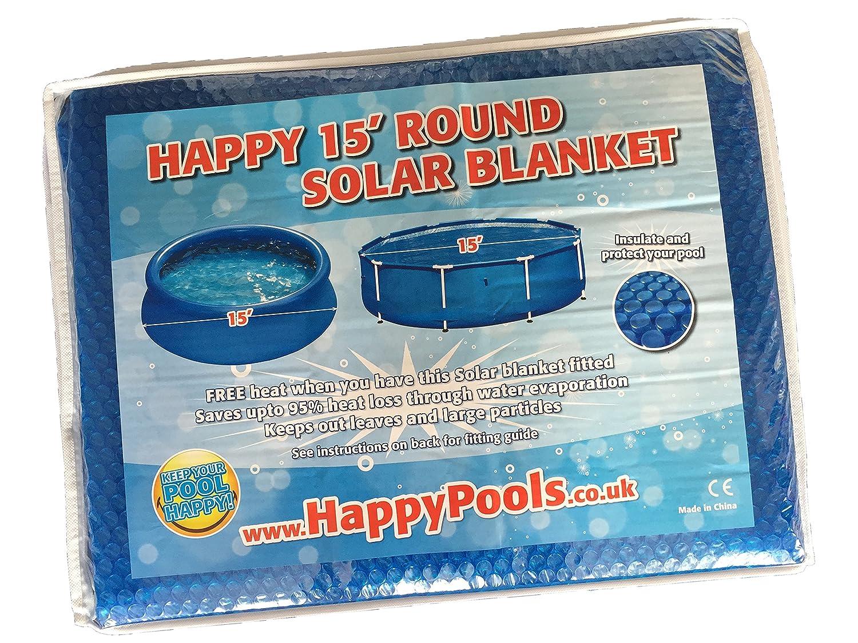 Happy Hot Tubs Deluxe Schwimmbad 15 M, Solarabdeckplane für Frame ...