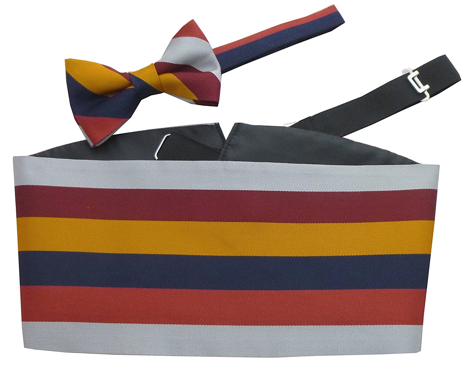 RAF Royal Air Force Stripe Regimental Cummerbund & Bow Tie