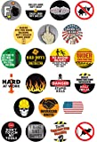 22 Hilarious Construction Worker Stickers | Static Cling Reusable Stickers are Perfect for Windows, Coffee Mugs, Beer Glasses, Cars, Trucks, Metal Lunch Boxes and Tool Boxes | Leaves No Residue